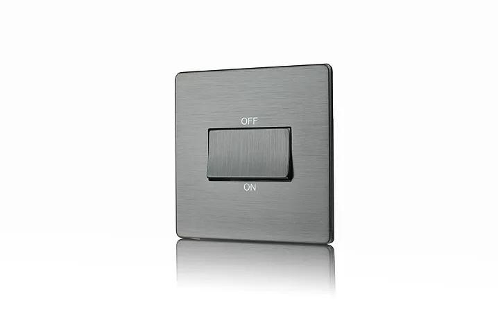 Premspec TP Fan Isolator Switch Screwless In Satin Nickel
