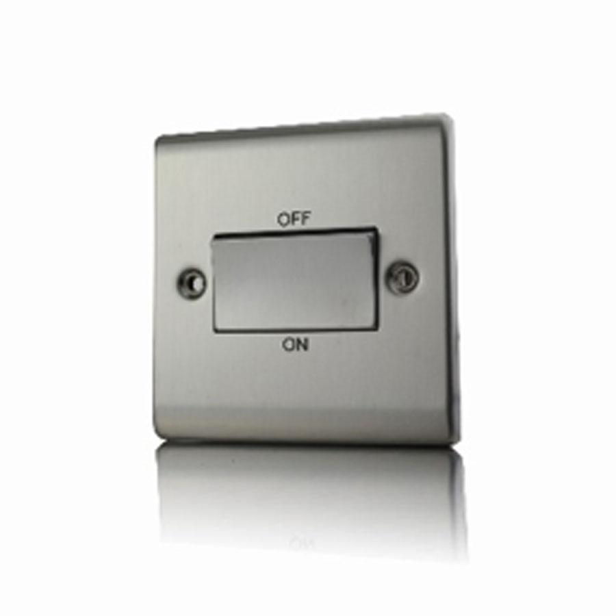Premspec TP Fan Isolator Switch Satin Steel