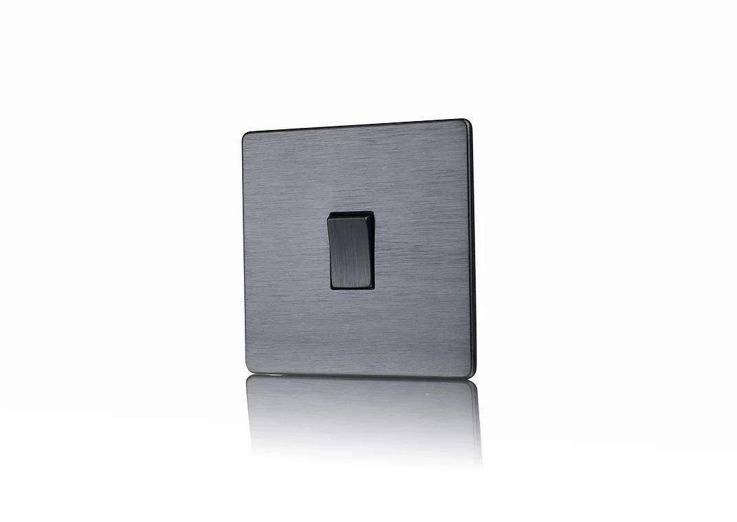 Premspec STYLE Screwless Satin Nickel 10AX Intermediate Switch