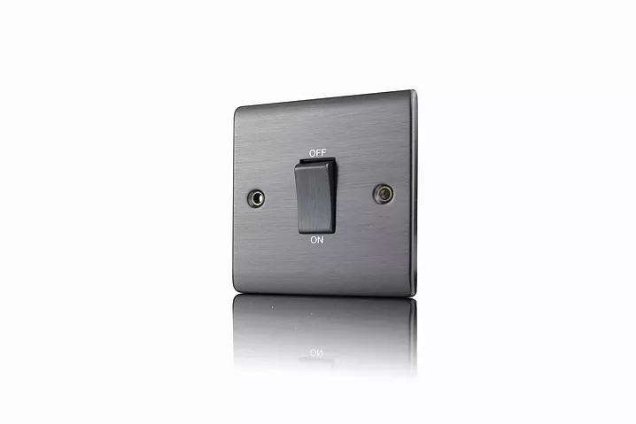 Premspec 45A DP 1G Switch Satin Nickel