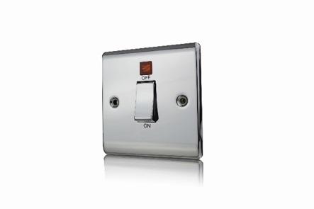 Premspec 45A DP 1G Switch + NEON Polished Chrome