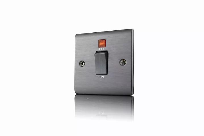 Premspec 45A DP 1G Switch + NEON Satin Nickel