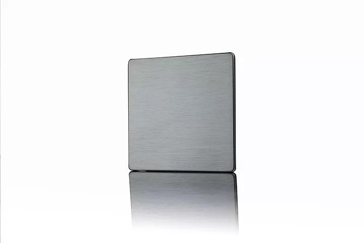 Premspec 1G Blank Plate Screwless Satin Nickel