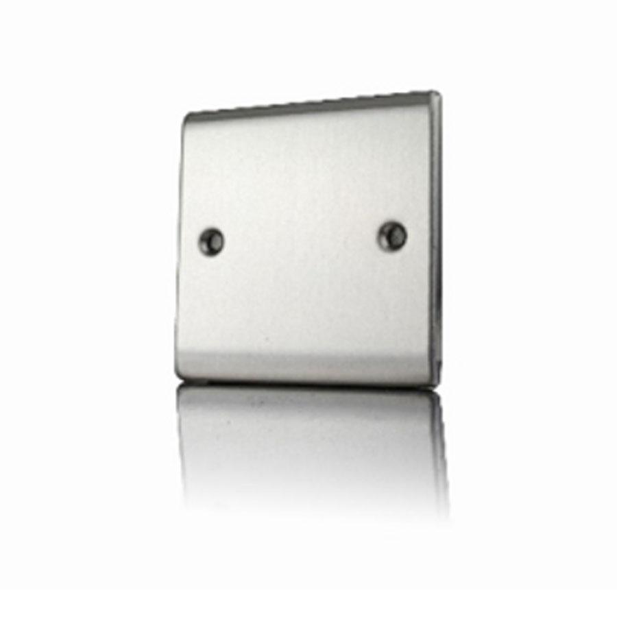Premspec 1G Blank Plate Satin Steel