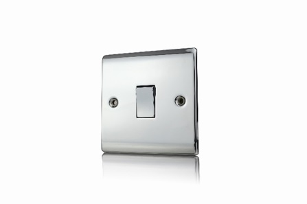 Premspec 1G 2W 10AX Switch Polished Chrome