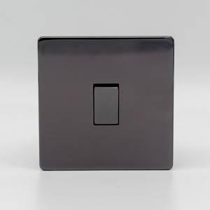 Premspec 1G 2W 10AX Switch Black Nickel Screwless Screwless In Black Nickel