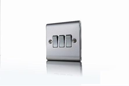Premspec 3G 2W 10AX Switch Black Nickel
