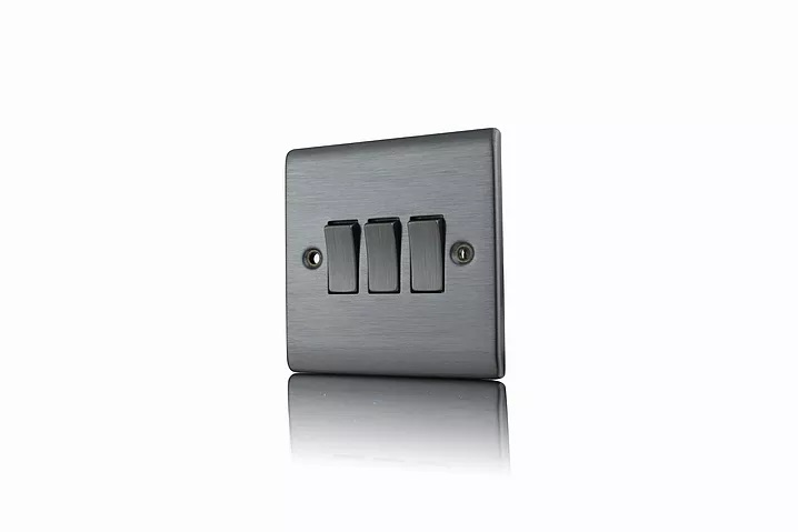 Premspec 3G 2W 10AX Switch Satin Nickel