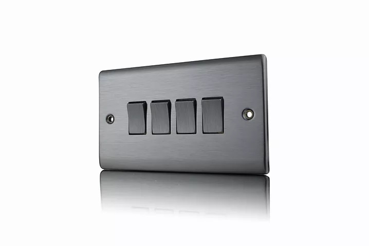 Premspec 4G 2W 10AX Switch Satin Nickel