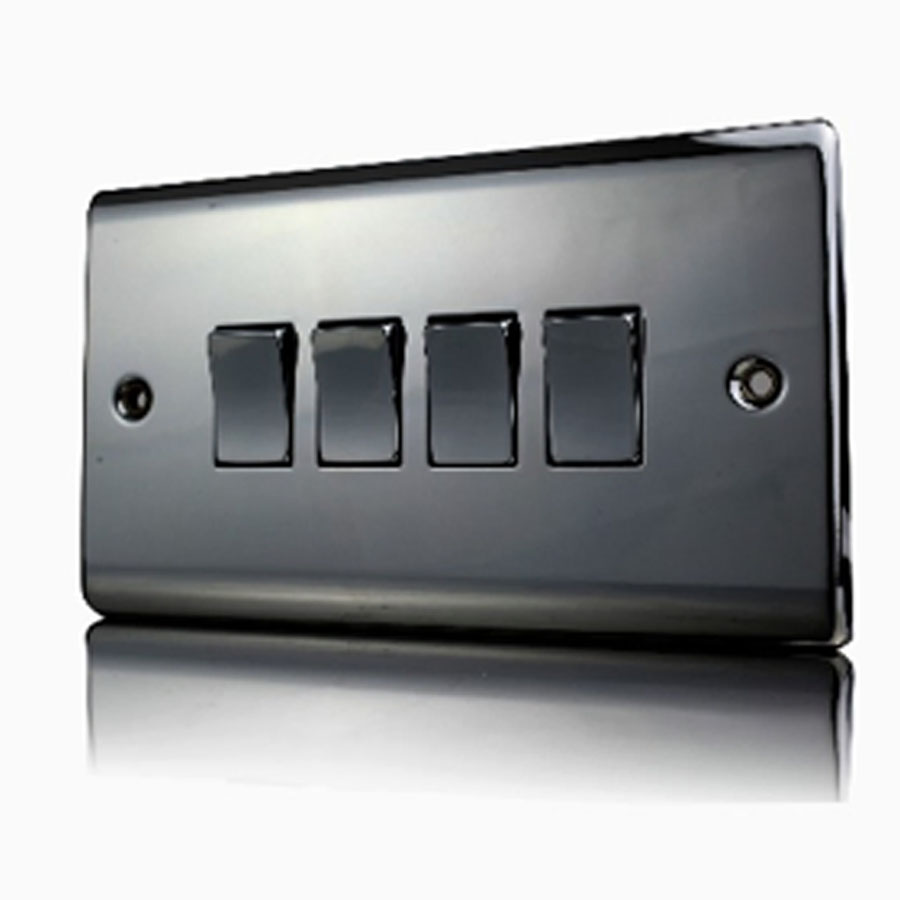 Premspec 4G 2W 10AX Switch Black Nickel