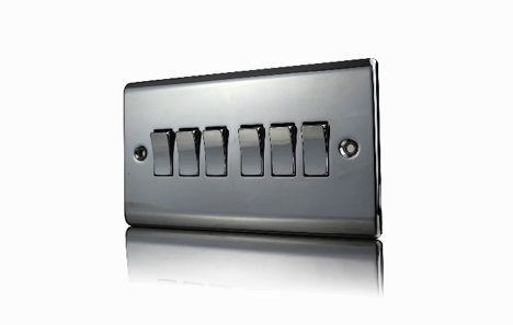 Premspec 6G 2W 10AX Switch Black Nickel