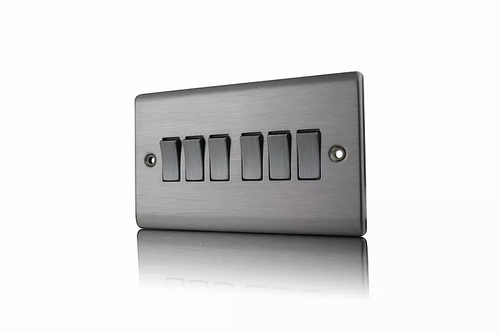 Premspec 6G 2W 10AX Switch Satin Nickel
