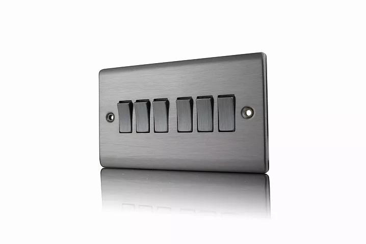 Premspec 6G 2W 10AX Switch Satin Nickel