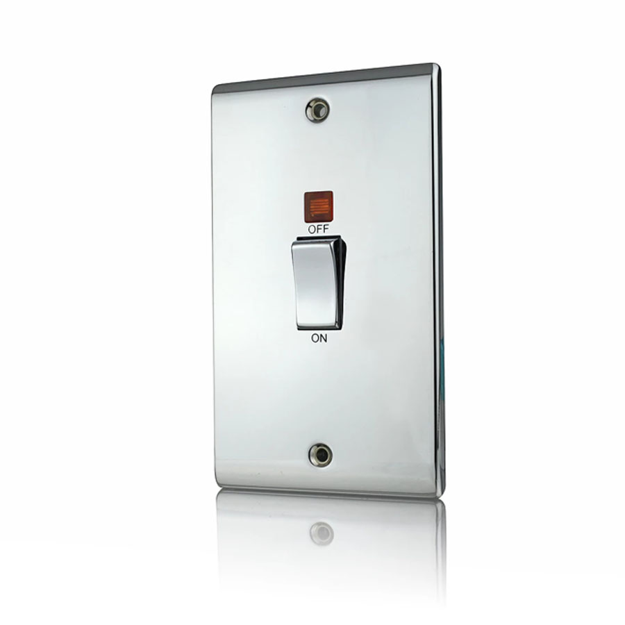 Premspec 45A DP Switch Vertical + NEON Polished Chrome