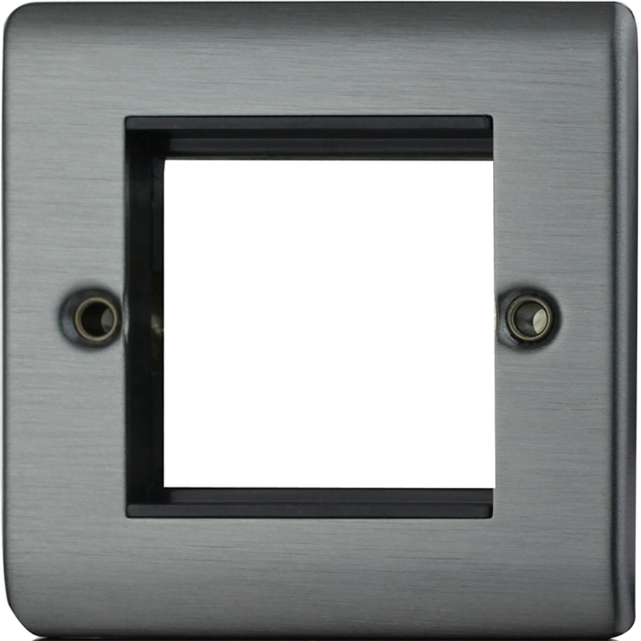 Premspec 2 Module Plate + Earth Satin Nickel