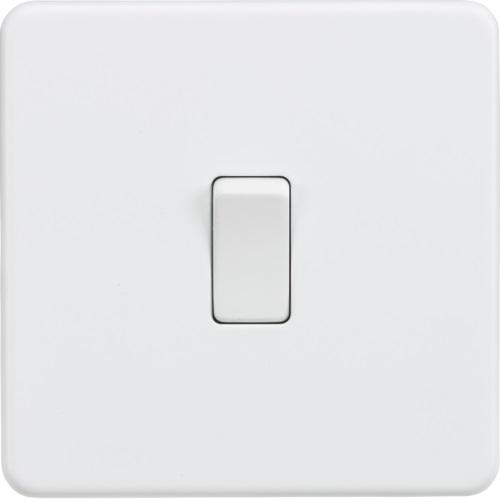 Screwless 10AX 1G intermediate switch - Matt white