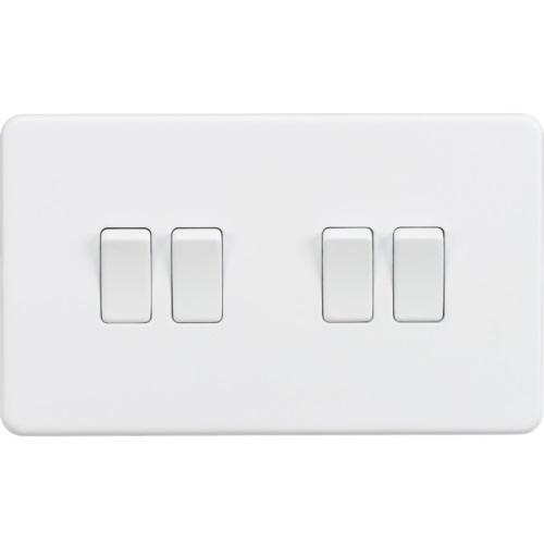 Screwless 10AX 4G 2-Way Switch - Matt White