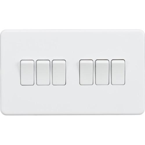 Screwless 10AX 6G 2-Way Switch - Matt White