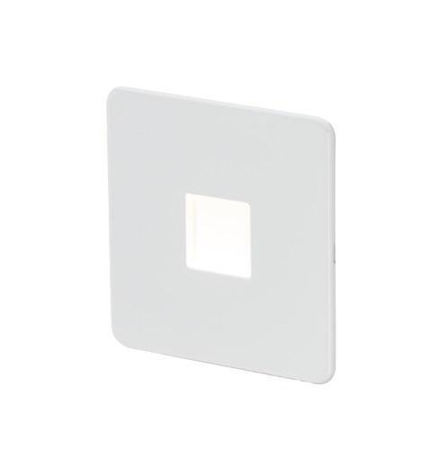 Screwless 230V LED Plinth Light - Matt White