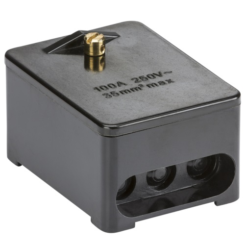 100A 1Pole Link Box Blk