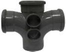 Soil Ring 92.5 Double Branch 110mm - Black