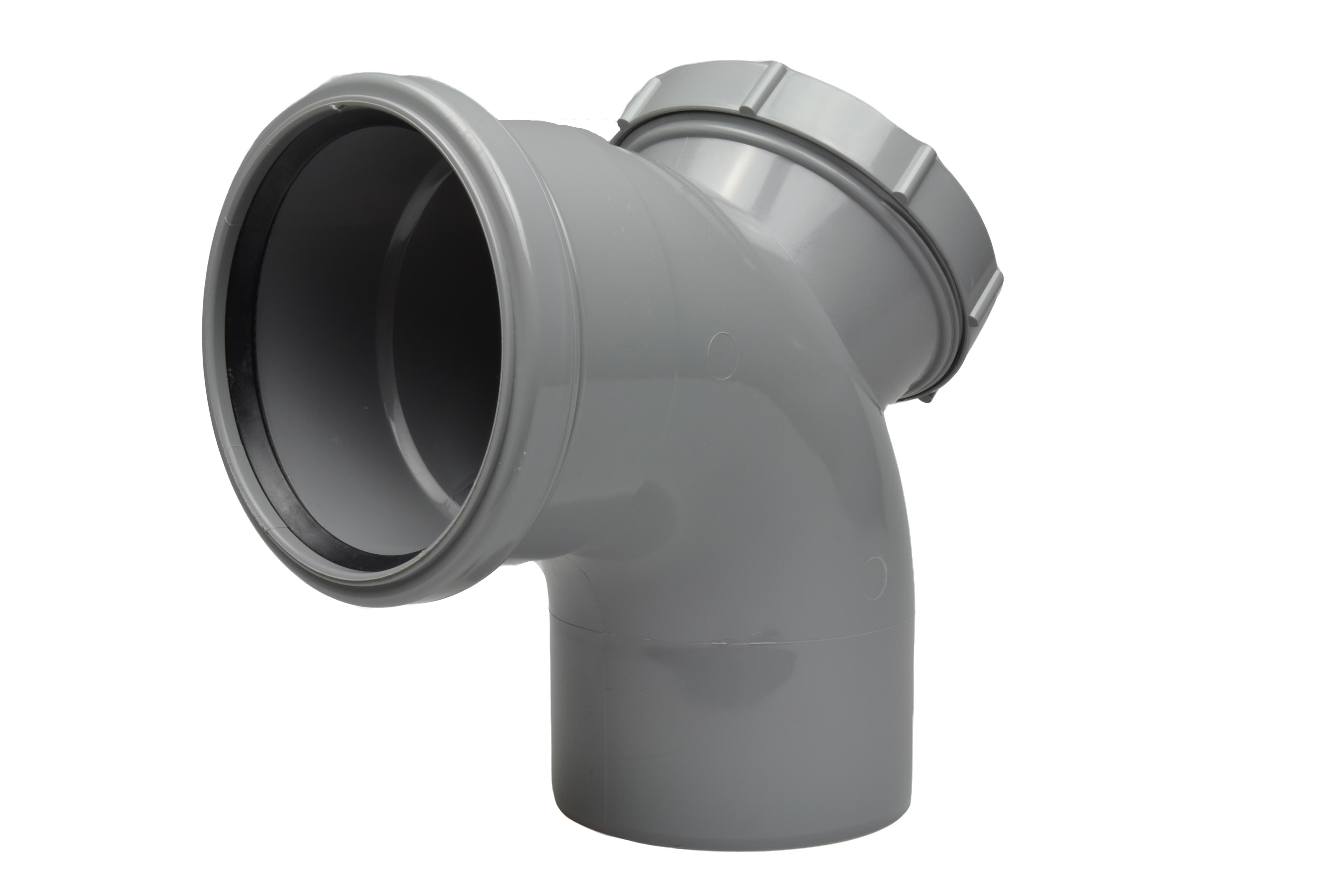 Soil Ring 92 Single Socket Access Bend 110mm - Light Grey