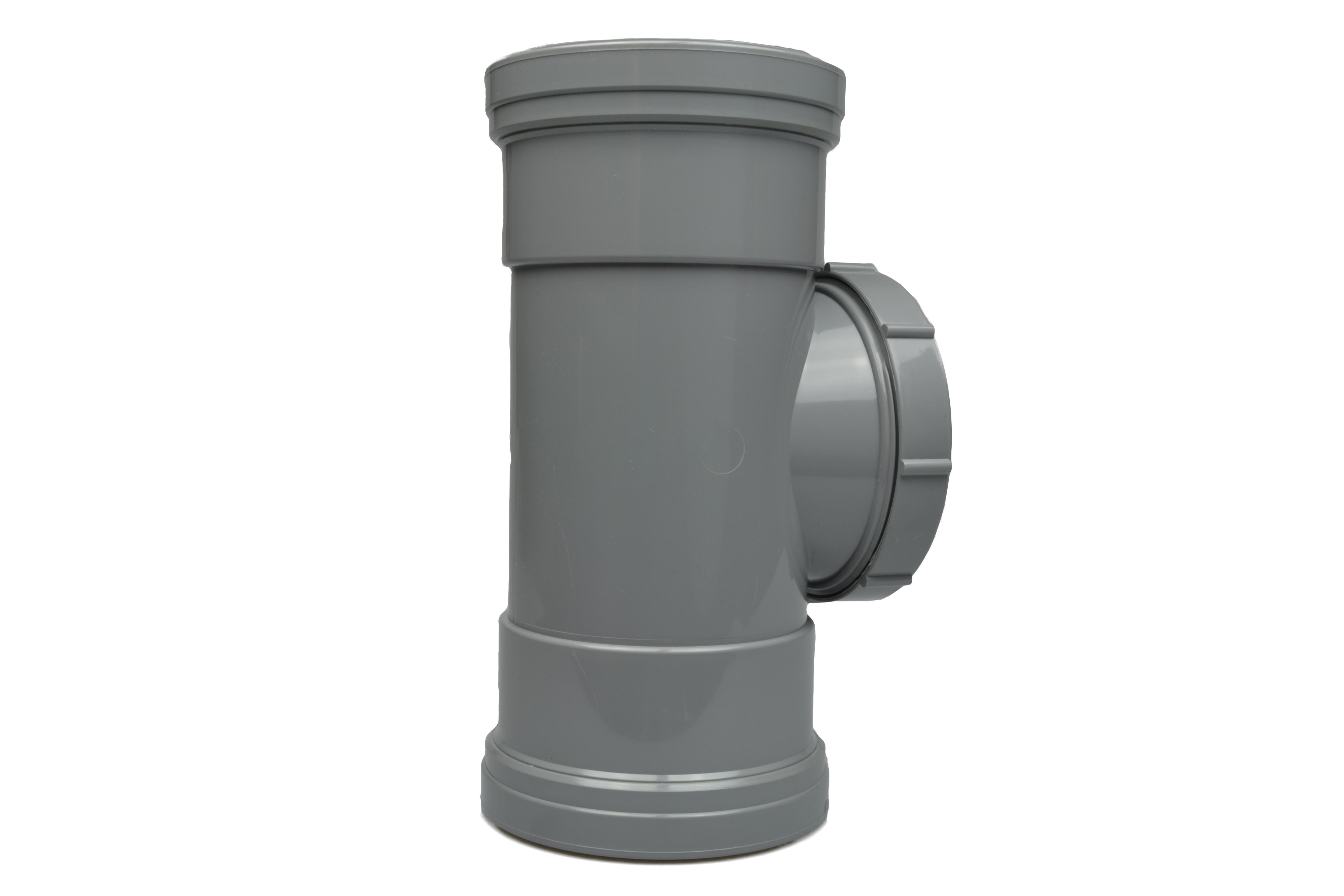 Soil Ring 92 Double Socket Access Pipe 110mm - Light Grey