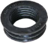 63x50mm Internal Soil/Solvent Boss Adaptor - Black