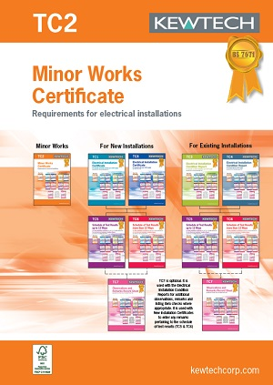 KEWTECH TC2 Minor Works Certificate
