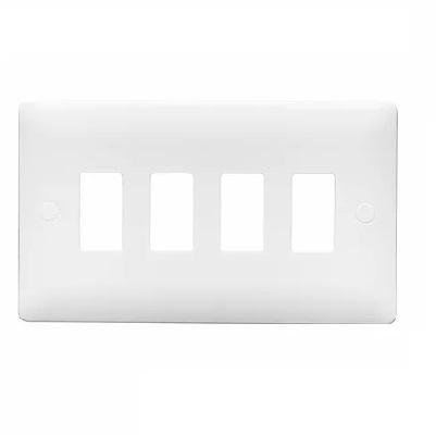 Verso 4 Gang Verso Mini Grid Plate