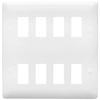 Verso 8 Gang Verso Mini Grid Plate