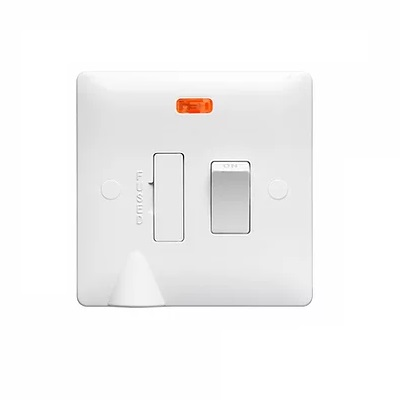 Verso 13Amp Switched Fuse WIth Neon & Flex Outlet