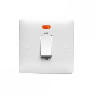 Verso 50Amp 1 DP Gang Switch with Neon
