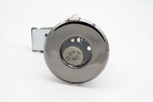 Shower IP65 Fire Rated Mains Downlight Black Nickel