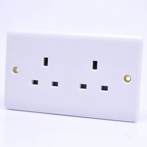Premspec 2G 13A Un-switched Socket