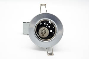 Pressed Fire Rated Mains Downlight Brushed Chrome