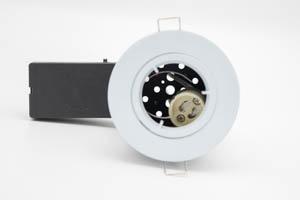 Die Cast Aluminium Fire-Rated GU10 Fixed Downlight (White) with QuickBlock