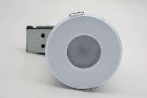 Die Cast Aluminium Shower IP65 Fire-Rated GU10 Fixed Downlight (White)