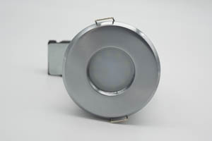 Shower IP65 Fire Rated Mains Downlight Brushed Chrome