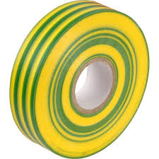 PVC TAPE 19mm x 33mm Green/Yellow