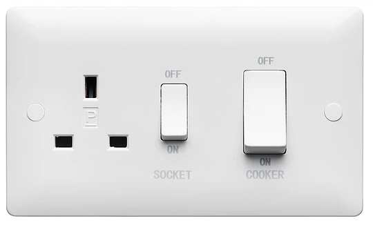 Verso 45A DP SWITCHED SOCKET